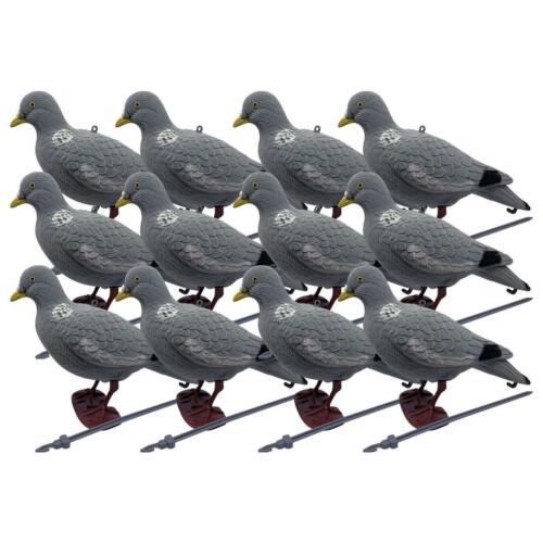 Head Up Bushwear Pack de 12 floqué Pigeon Decoy