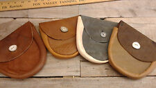 Handmade Leather Pouch   Small Belt Bag Waist Vintage real leather antler button