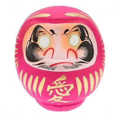"Japanese 4.5/""H Green DARUMA KENKOH Health Wish-making Good Luck Doll//Made Japan"