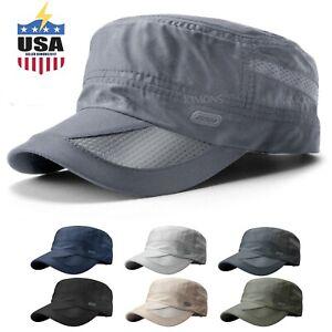 Men's Classic Army Summer Military Cap Hat Cadet Patrol Style Brim Spring Summer