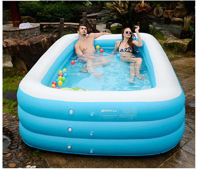 10FT best Inflatable Swimming Pool Above Ground Set Center Ground Air pump US