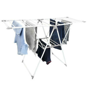 Box Sweden 21 Rail Foldable Clothes Airer Folding Hanger/Drying Rack Stand White