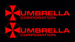 2X-Red-Umbrella-Corporation-Hive-Resident-Evil-Vinyl-Sticker-Car-Window-Decal