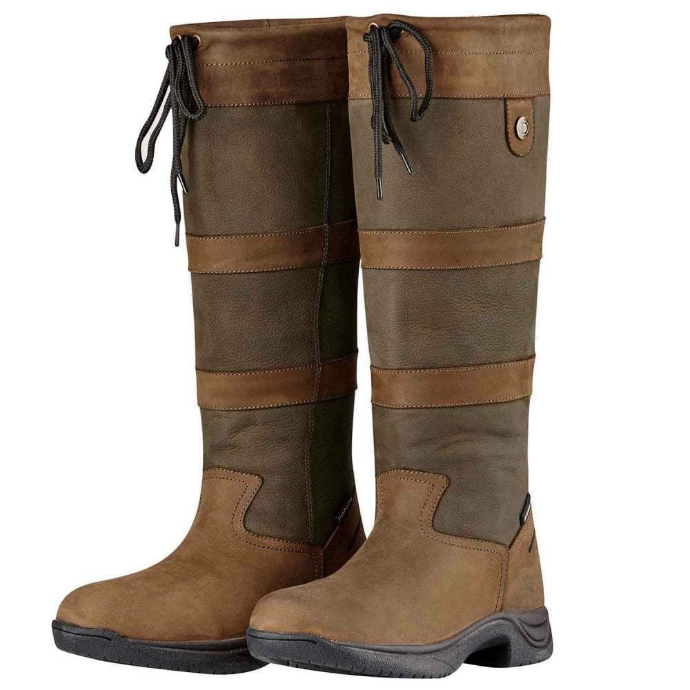 Dublin River Boots III Dark Brown (Wide Fit) Ladies Country BootsUK SHOE SIZES