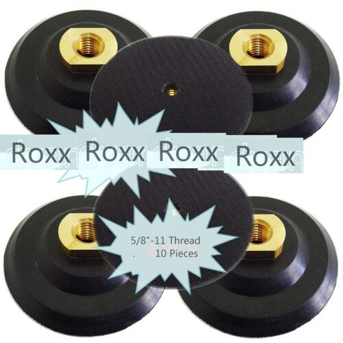 "4"" Rubber 10 PC Flexible Backer Pads 5//8/""-11 Thread for Diamond Polishing Pad"