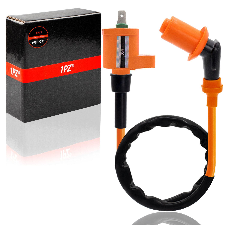 EVGATSAUTO Replacement Engine Accessories Engine Ignition Coil Fit for Hon-da TRX350 TRX350D FOURTRAX 4x4 86-89 ATV Black