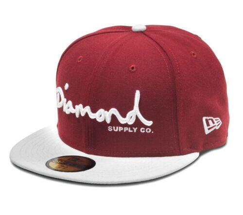 DIAMOND Supply Co OG Script MONTATO NEW ERA CAP IN COLORE ROSSO CARDINALE