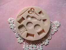 Sewing Fashion designer Set silicone mold fondant cake decorating threads needle