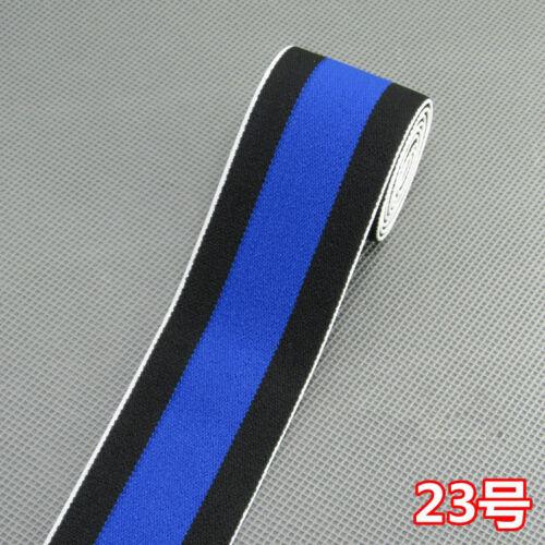 Stripe Elastic Rubber Waist band Collar Cuff Rib Stretch Trim Ribbon Accessories
