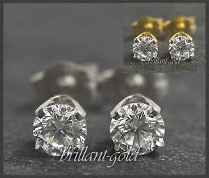 Diamant-Brillant-Damen-Ohrstecker-585-Gold-0-15-0-45ct-Top-Wesselton-VS-Si