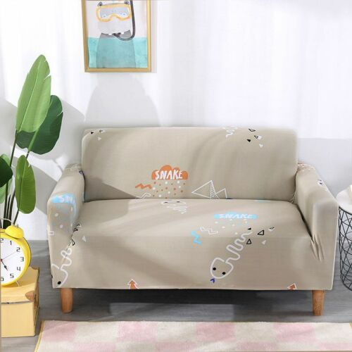 1-4 Seat Stretch Sofa Animal Print Slipcover Fit Couch Cover Protector Washable