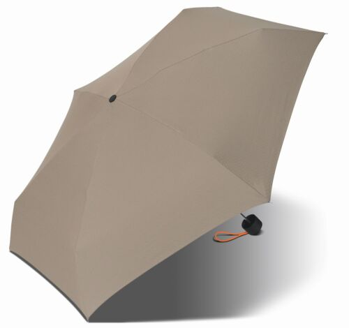 Esprit Damenschirm Schirm Regenschirm Taschenschirm Grau-Orange