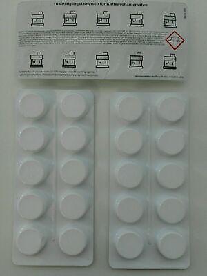 20 Comprimés De Nettoyage 2 g 20 pastilles 16 G pour café vollautomaten