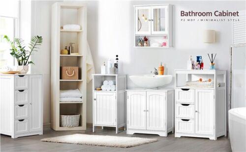 Bathroom Floor Cabinet Storage Unit, White Bathroom Cabinet