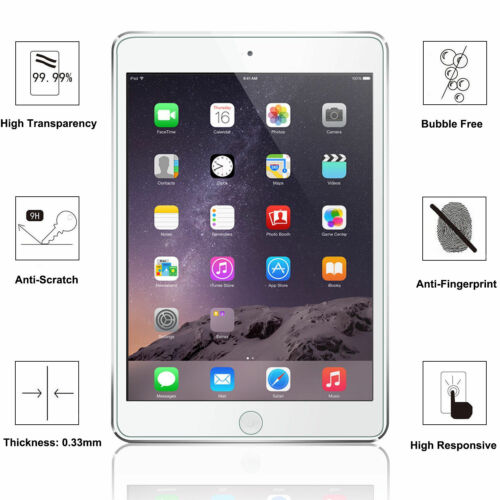 For iPad 9.7 2018 //2017 Pro 9.7 Air 1//2 Tempered Glass Screen Protector 1 Pack