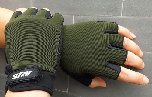 Unisex Antiskid Cycling Bike Fitness Sport Fingerless Gloves Weight Lifting Best