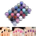6/12/24/45 Colors 3D Shiny Glitter Nail Art Kit Acrylic UV Powder Dust Tip LJ