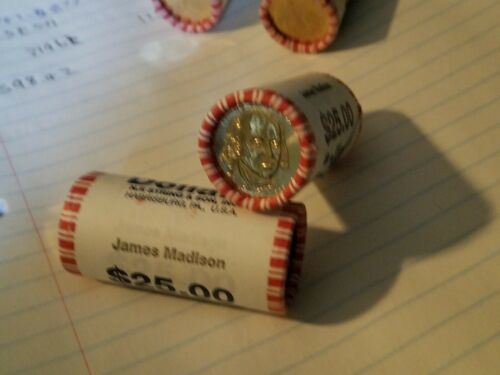 2007 D Mint $25 Presidential Dollar UNC Bank Roll James Madison Uncirculated