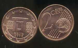 MALTE    2  cents  2008  SPL  neuve  ( sortie du rouleau )    ( bis )