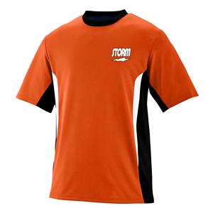 Storm Men's Eraser Performance Crew Bowling Shirt Dri-Fit orange