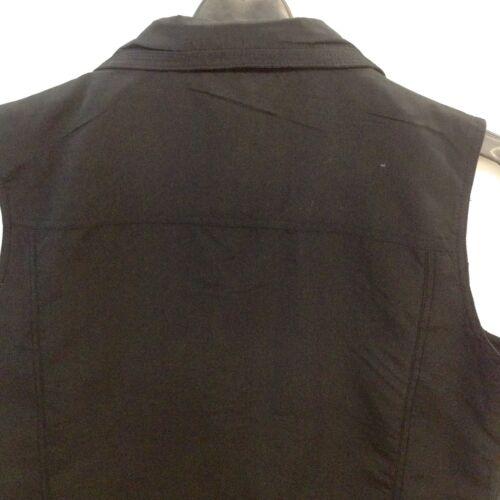 Damen Sommer leichte Westen mit Reißverschluss Kragen und Taschen Gr 3XL M