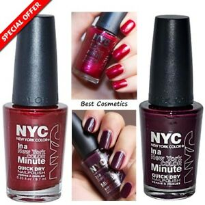Nyc New York Color In A Minute Quick Dry Nail Polish 9 7ml Chelsea