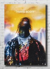 P913 Custom Travis Scott Astroworld Hip Hop Rap Music Star Poster Art Decor