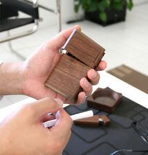 F/S Walnut Wooden Tobacco Cigarette Case Storage Box Short Type Made in Japan