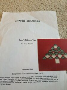 Cross-Stitch-CHRISTMAS-Santa-039-s-Christmas-Tree-Design-PATTERN-Santa