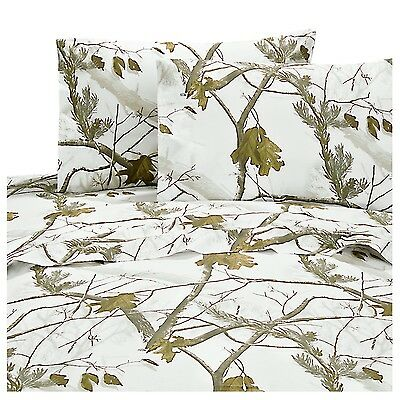 Realtree® AP Snow Camo Sheets ~ White Camouflage Sheet Set ~ 6 Sizes
