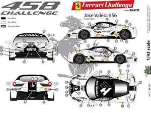FFSMC Productions Decals 1//18 Ferrari F-458 Challenge 2012 de Guy Leclerc