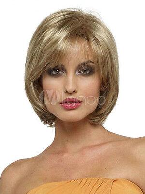Qualität Gold-Haar-Perücken Seite Gekämmt Hitzebeständige Kurze Perücke Mode Wig