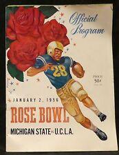 1956 Rose Bowl Ticket Stub and Program; 1956 Tournament of Roses Program