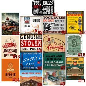 Vintage Retro Metal Tin Signs Wall Plaque Car Plates Pin Up Bar Club Pub Decor