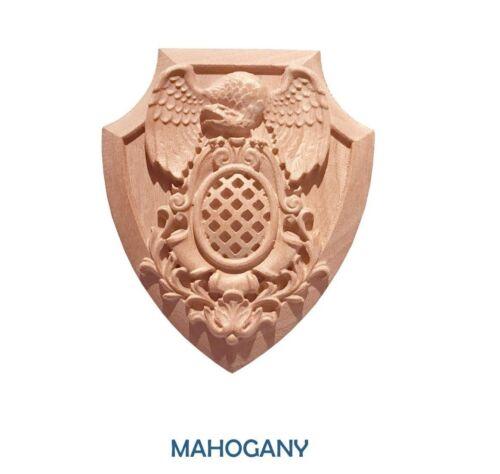 """Cherry Hard Maple Eagle Badge 5-1//2/"""" x 4-1//2/"""" x 3//4/"""" Mahogany Red Oak"""