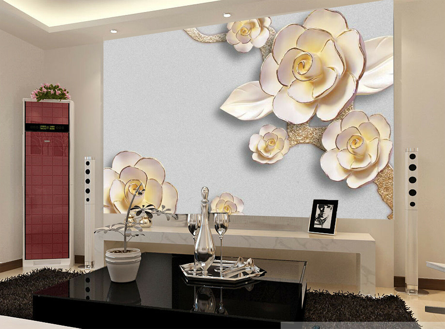 3D Flowers Bloom 6 Wallpaper Murals Wall Print Wallpaper Mural AJ WALL AU Lemon
