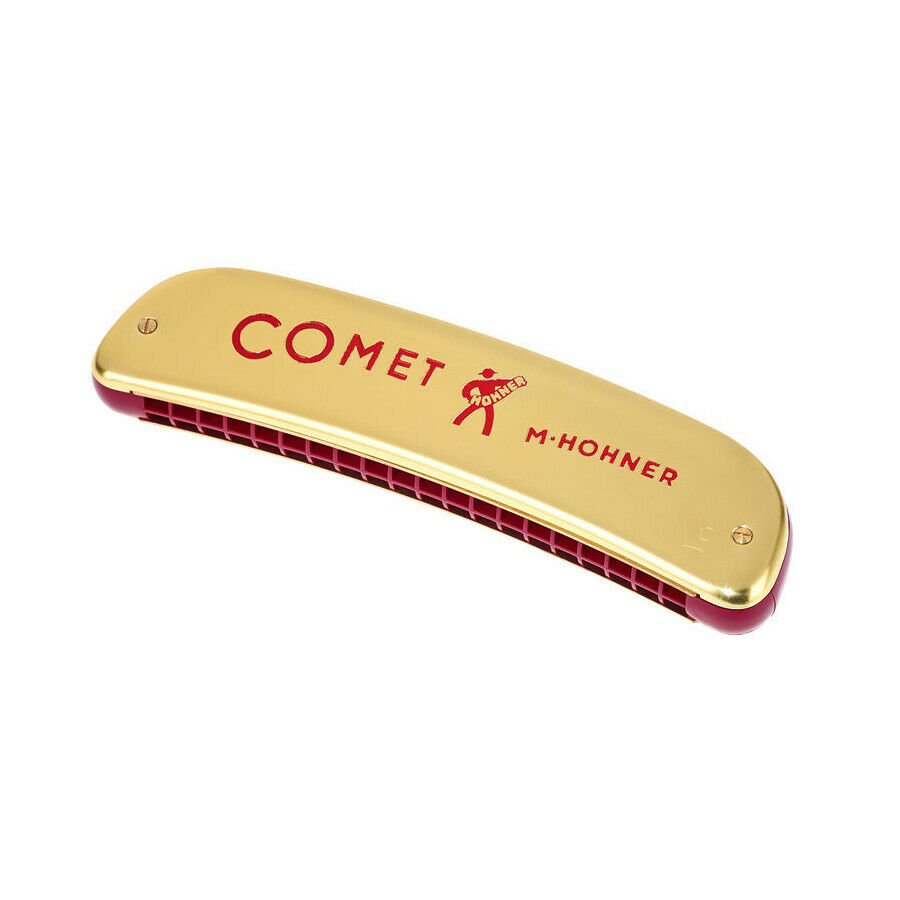 Hohner 2504 40 Comet 40 - Golden Octave Harmonica w  Case - Key of C
