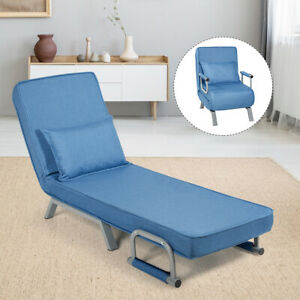 Costway Folding 5 Position Convertible Sleeper Bed Armchair Lounge Couch w/