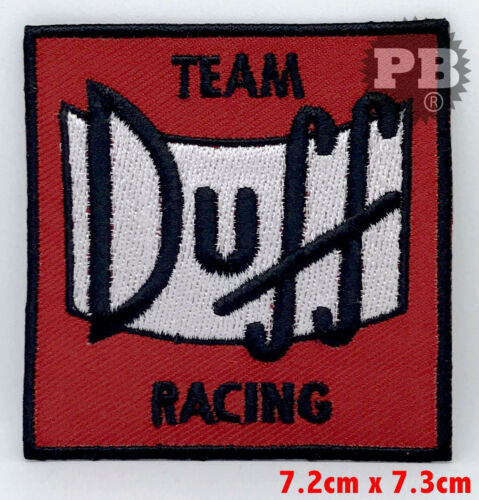 THE SIMPSONS TEAM DUFF RACING Iron Sew on Embroidered Patch UK Seller
