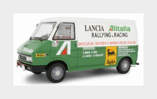 Fiat 242 Van Alitalia Assist Lancia Corse Rally 1974 LAUDORACING 1:18 LM107A1 M