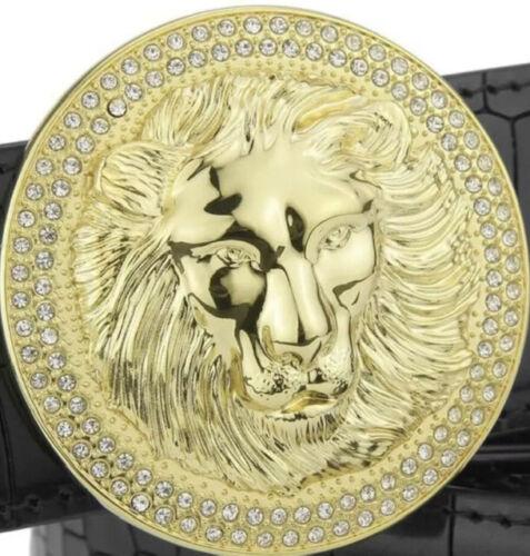UK Femmes Créateur Broche Boucles Pour 38 Mm Ceintures H Boucles de ceinture lion Diamant Femmes