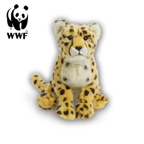Wwf Stuffed Toy Cheetah (30cm) Lifelike Animal Big Cat Africa