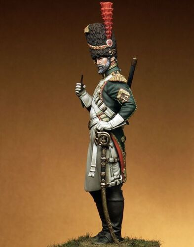 Guards Cavalry Regiment Officer Unpainted Model Kits 1//24 Scale 75mm Garage Kit