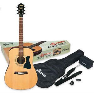 Details about Ibanez V50NJP-NT Acoustic Guitar Jam Pack - inc  Gig Bag,  Tuner, Strap