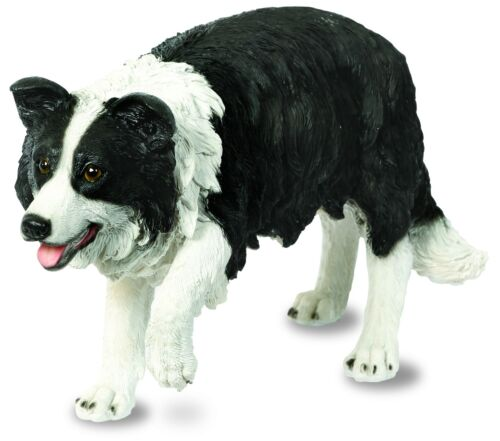 Resin Pup Figure Border Collie Sheep Dog Garden Ornament Puppy