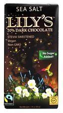 Lily's - Dark Chocolate Bar 70% Cocoa Sea Salt - 2.8 oz.