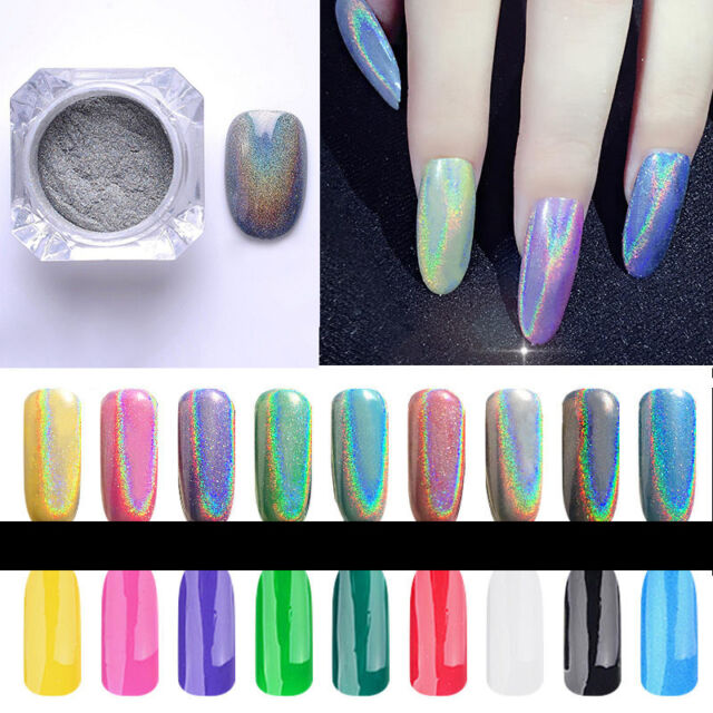 Magic Holographic Colorful Nails Effect Ultra Fine Chrome