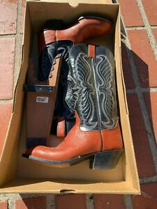 Men S O Sullivan Ortho Ease Cowboy Boots Size 7c Ebay