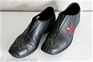 Chaussures Femme antistress, pointure 38 , Noir en cuir