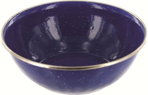 NEW One DELUXE ENAMEL deep bowl  Bushcraft Camping h Navy